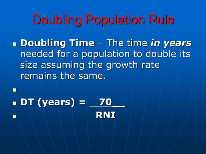 Doubling Population Rule