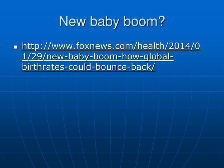 New baby boom?