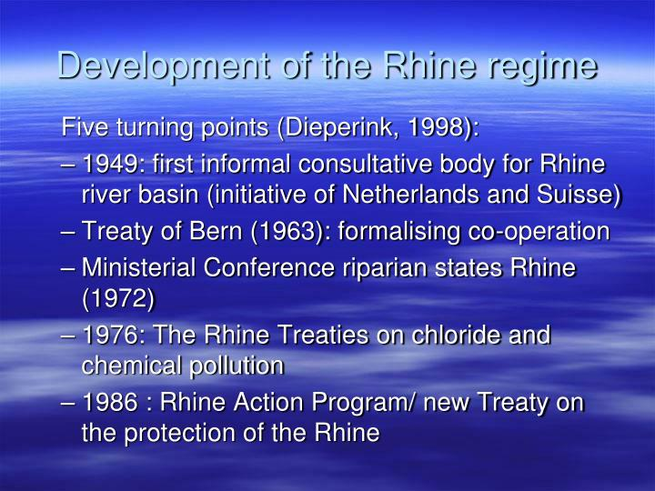 Development of the Rhine regime