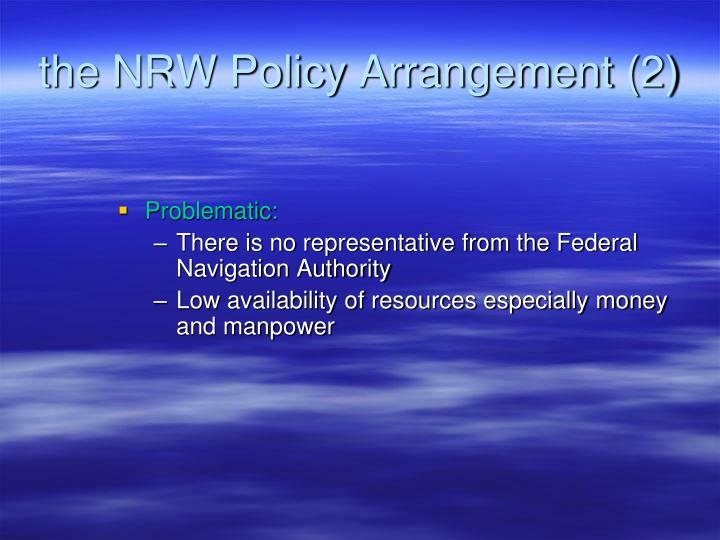 the NRW Policy Arrangement (2)