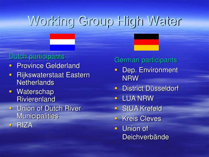 Working Group High Water