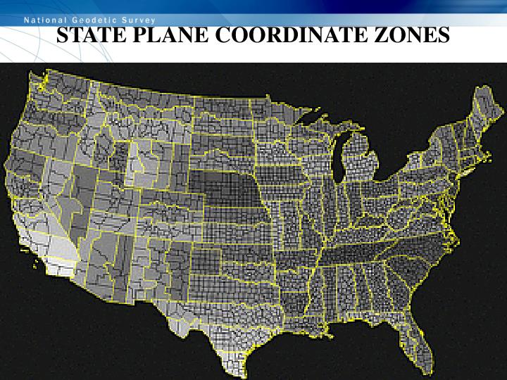 STATE PLANE COORDINATE ZONES