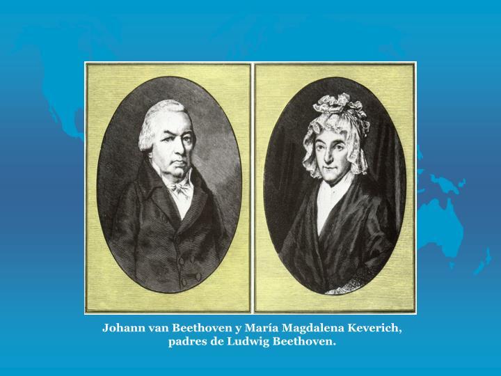 Johann van Beethoven y Mara Magdalena Keverich, padres de Ludwig Beethoven.