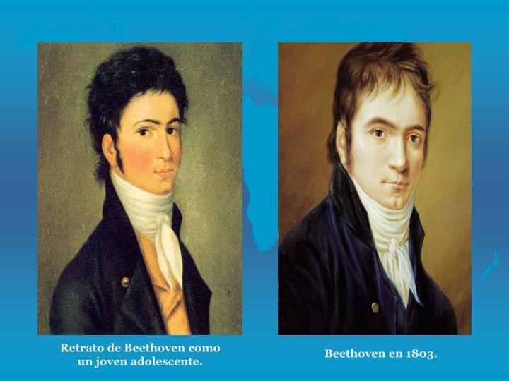 Retrato de Beethoven como un joven adolescente.