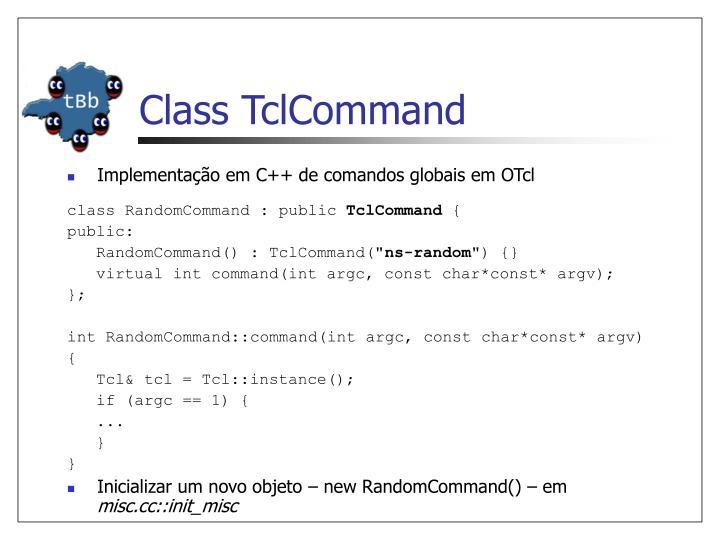 Class TclCommand