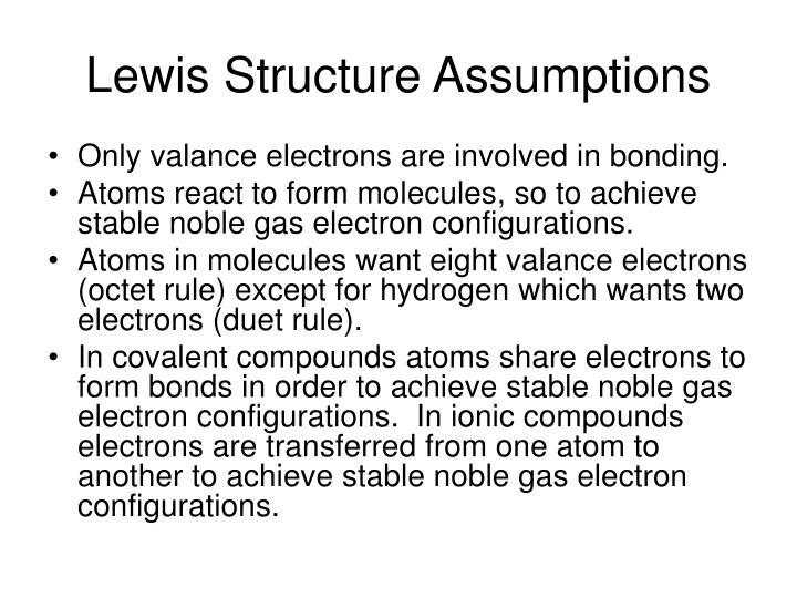 Lewis Structure Assumptions