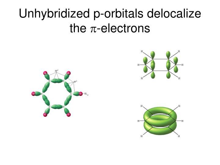 Unhybridized p-orbitals delocalize the