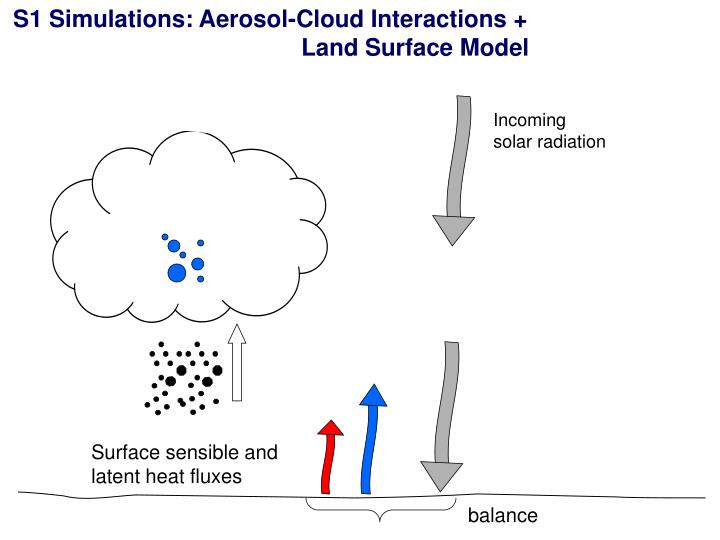 S1 Simulations: Aerosol-Cloud Interactions +