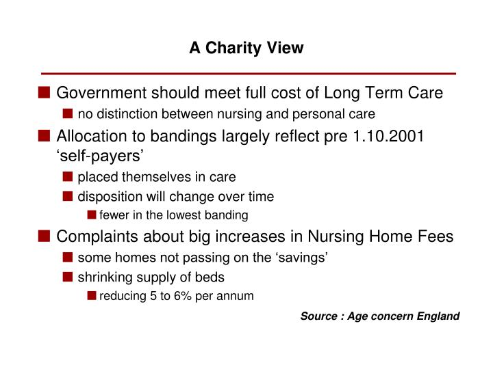 Government should meet full cost of Long Term Care