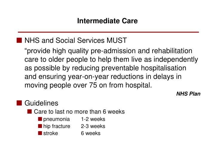 NHS and Social Services MUST