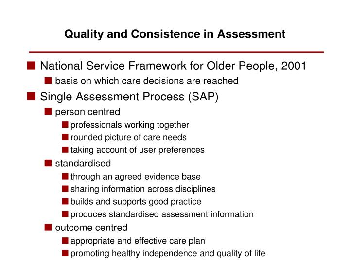National Service Framework for Older People, 2001