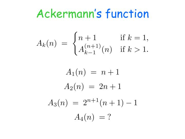 Ackermann s function