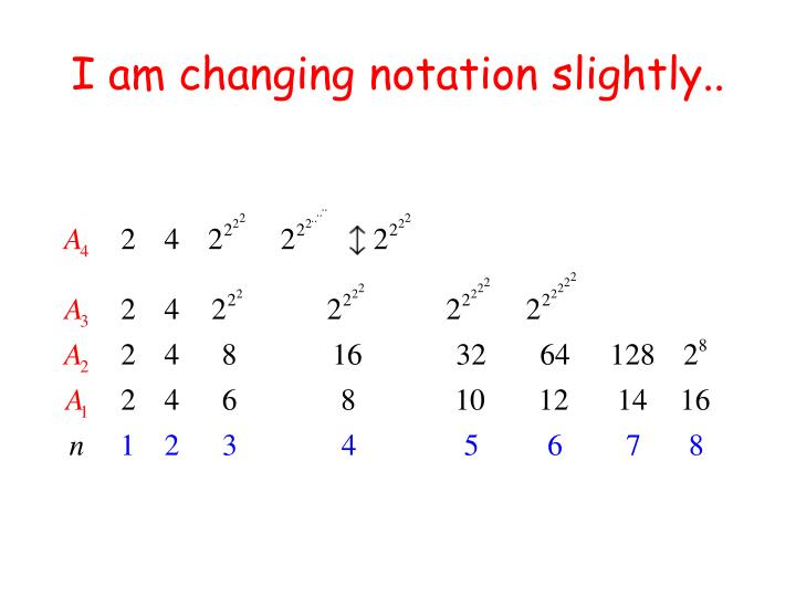 I am changing notation slightly..