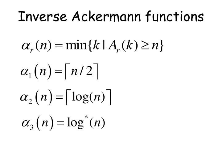 Inverse Ackermann functions