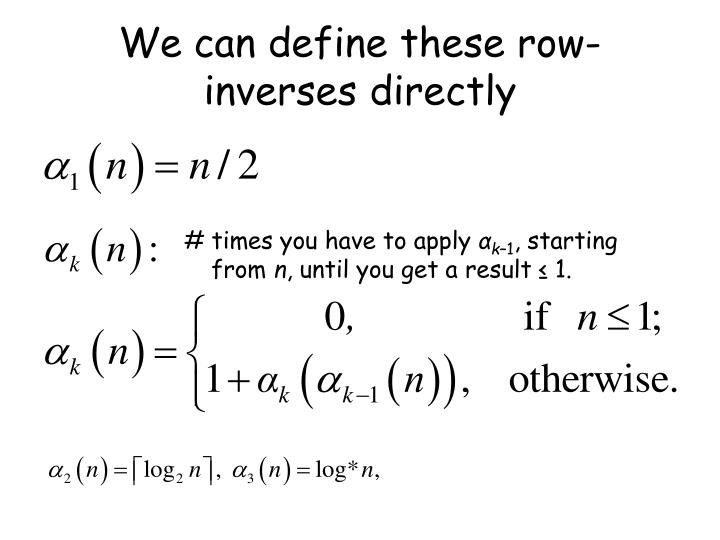 We can define these row-inverses directly