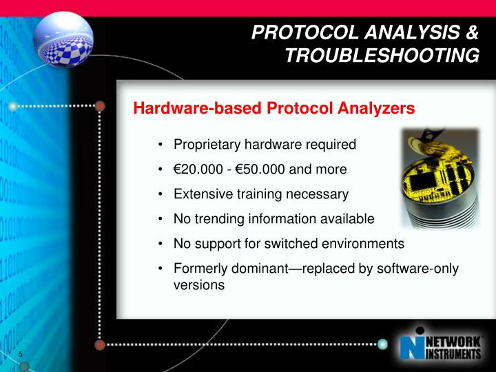 PROTOCOL ANALYSIS & TROUBLESHOOTING