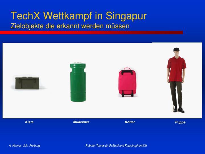 TechX Wettkampf in Singapur