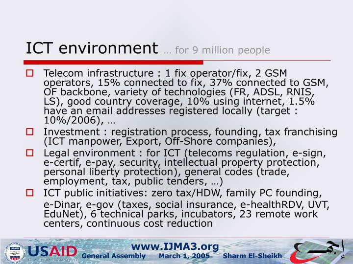 Ict environment for 9 million people
