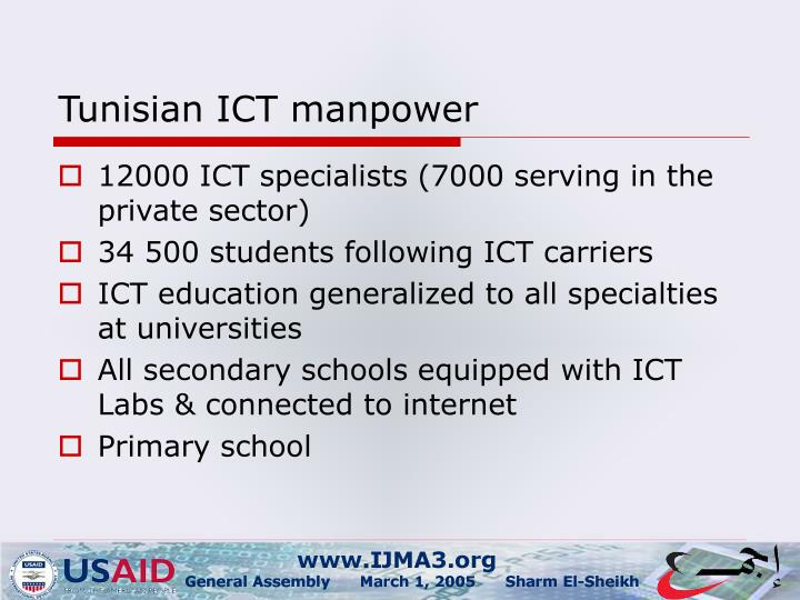Tunisian ICT manpower