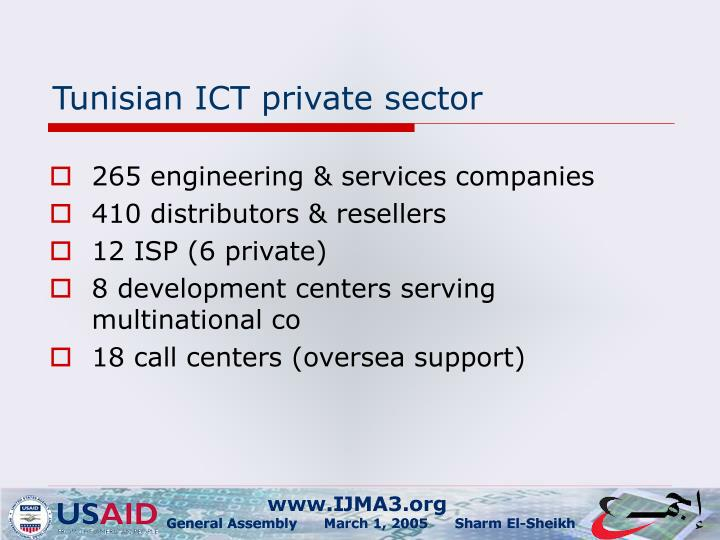 Tunisian ict private sector