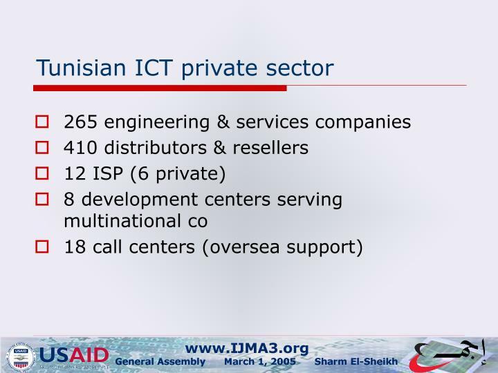 Tunisian ICT private sector