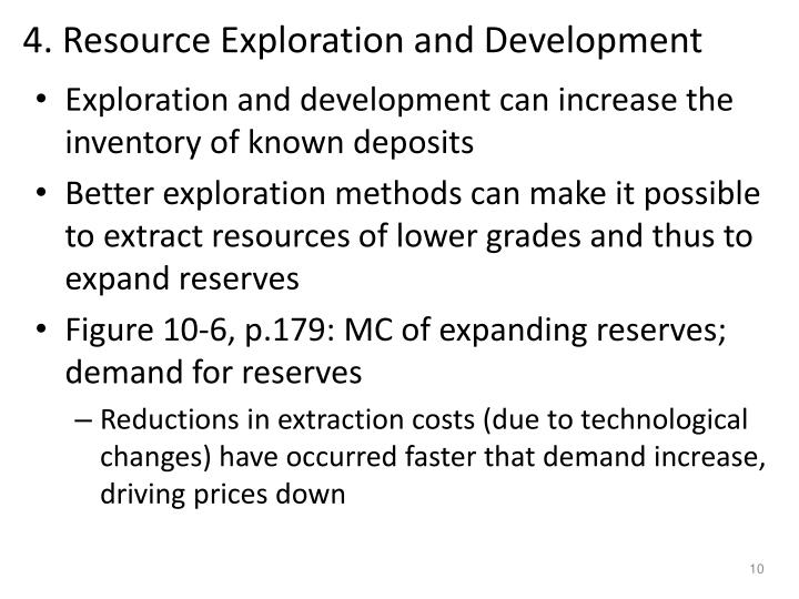 4. Resource Exploration and Development