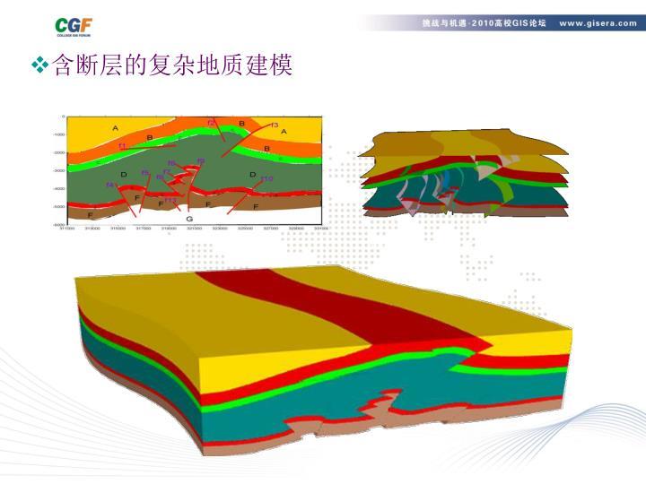 含断层的复杂地质建模