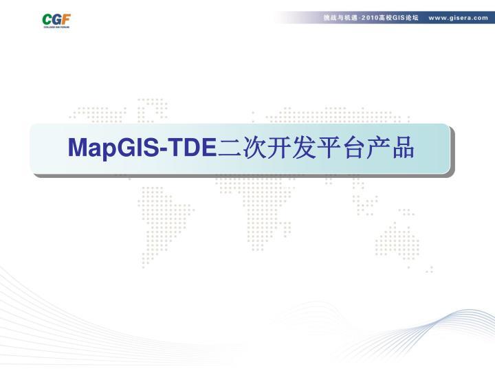 MapGIS-TDE