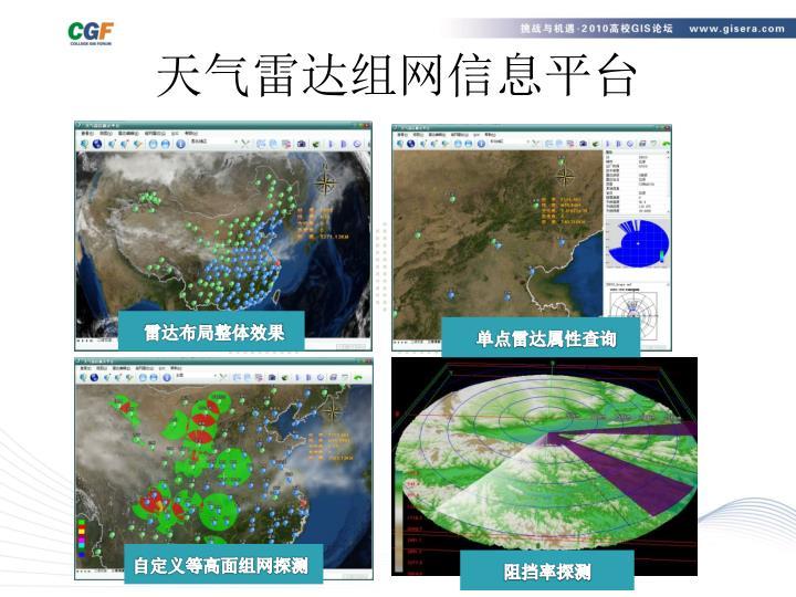 天气雷达组网信息平台