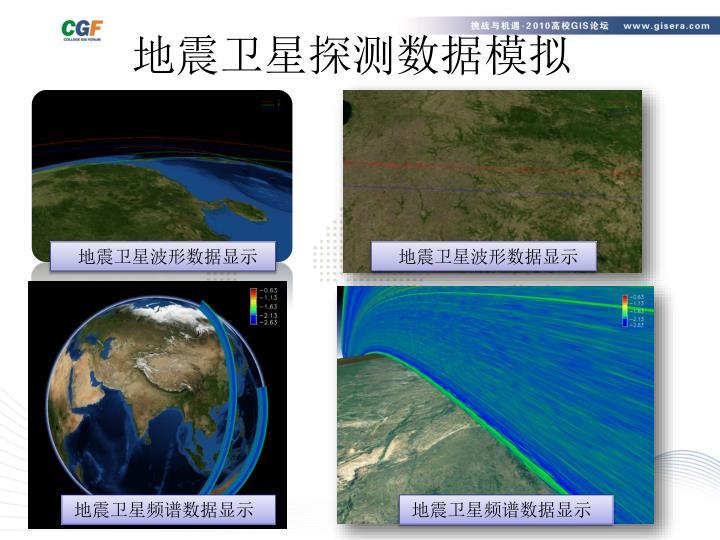地震卫星探测数据模拟