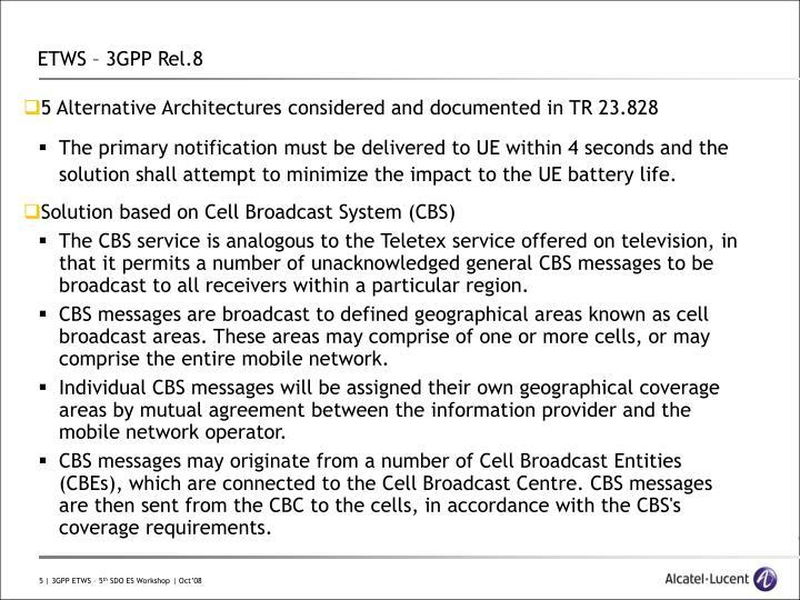 ETWS – 3GPP Rel.8