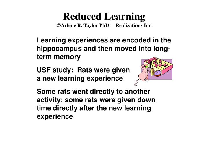 Reduced Learning
