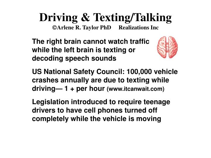 Driving & Texting/Talking