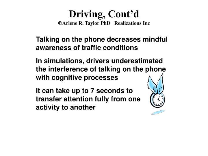 Driving, Cont'd