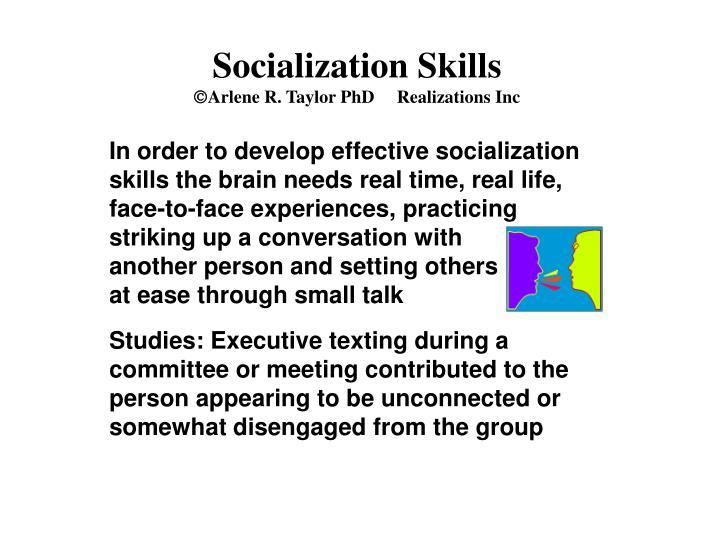 Socialization Skills