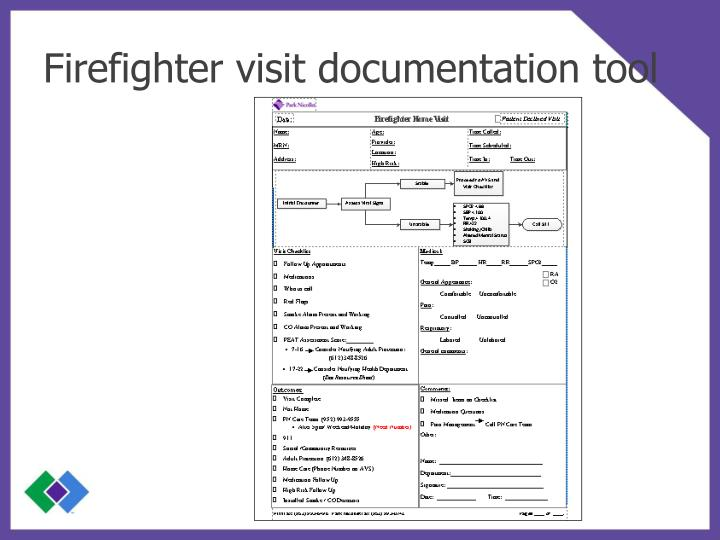 Firefighter visit documentation tool