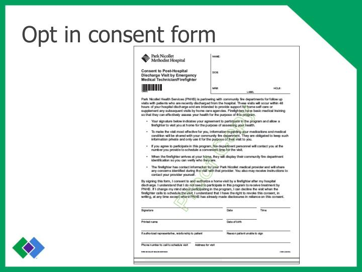 Opt in consent form