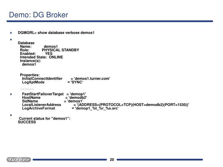 Demo: DG Broker