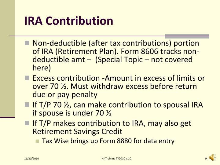IRA Contribution