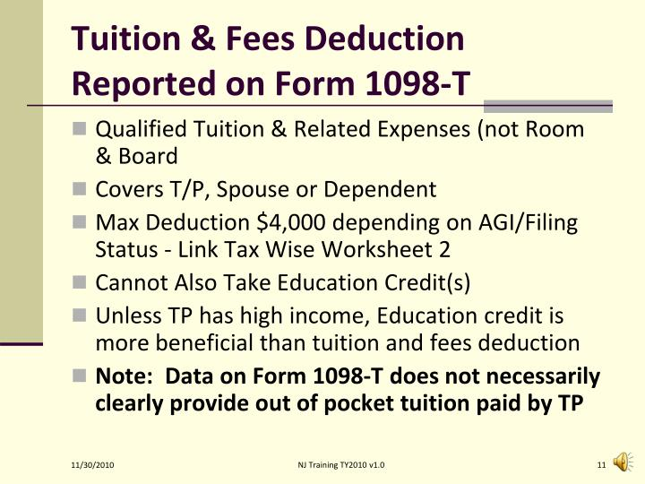 Tuition & Fees Deduction