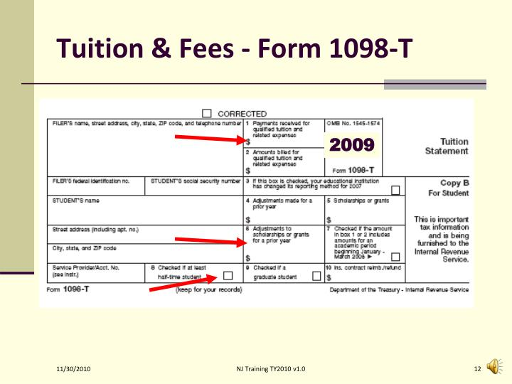 Tuition & Fees - Form 1098-T