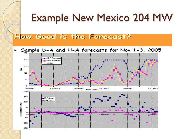 Example New Mexico 204 MW