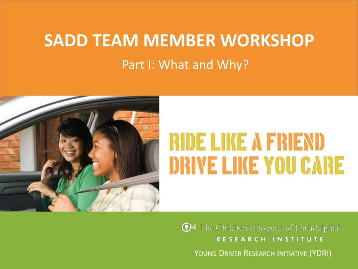 Sadd team member workshop