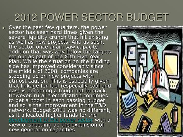 2012 POWER SECTOR BUDGET