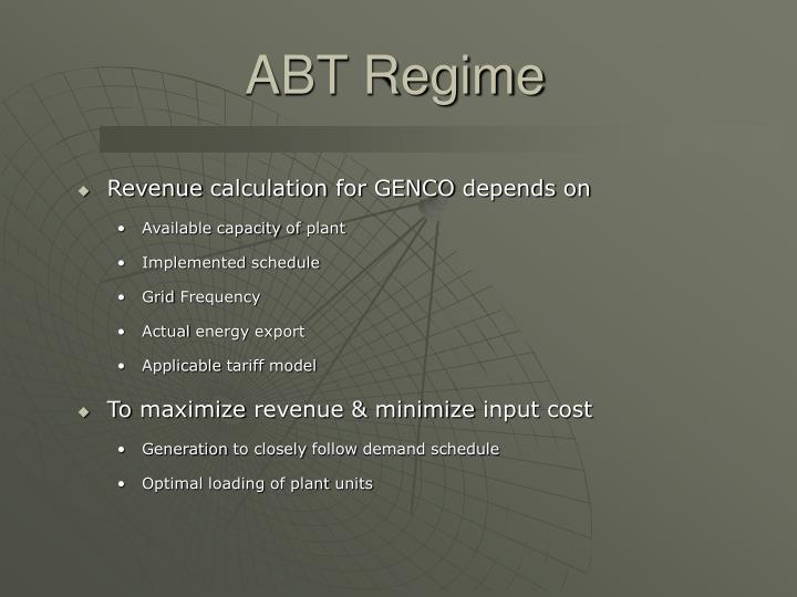 ABT Regime