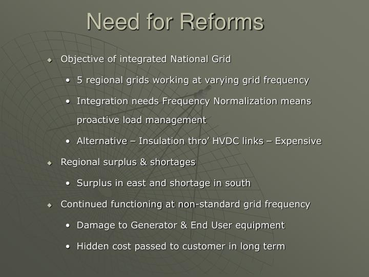 Need for Reforms