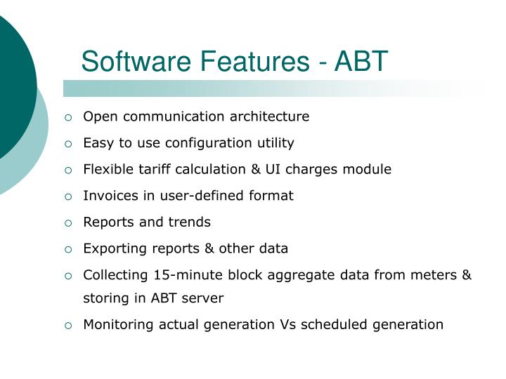 Software Features - ABT