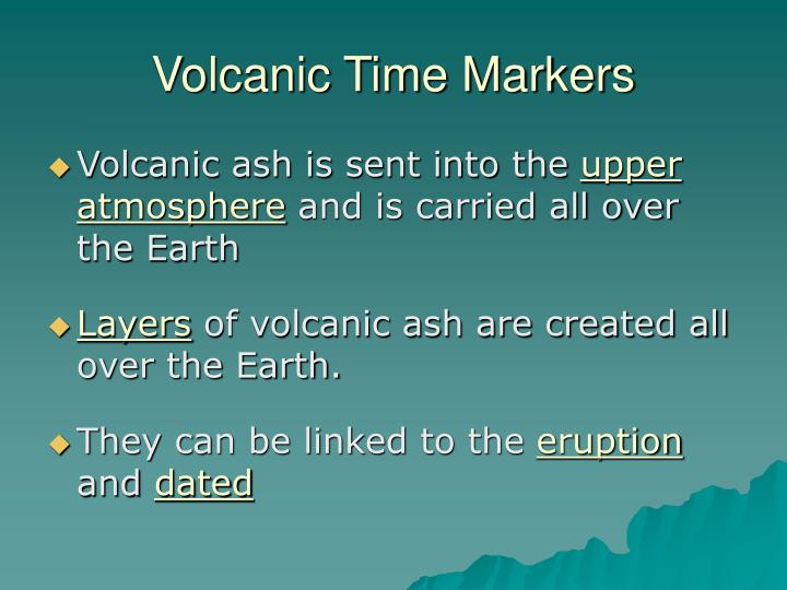 Volcanic Time Markers