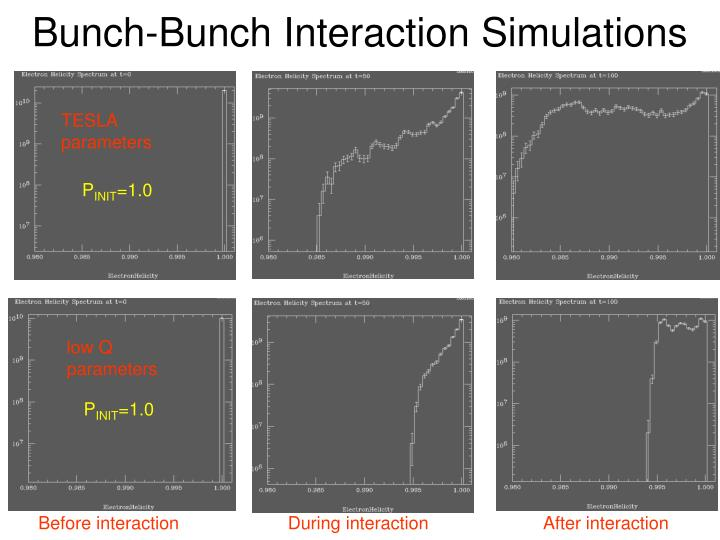 Bunch-Bunch Interaction Simulations