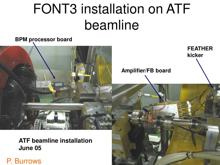 FONT3 installation on ATF beamline
